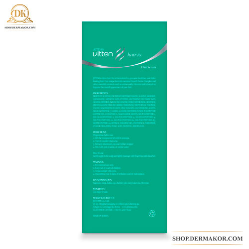 Vitten Hair RX, Jetema, Vitten, Hair Care, Preporation for injection, Hair Serum, Hair Growth, Vitten Hair